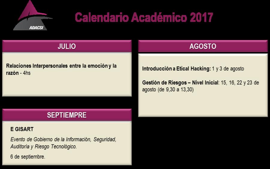 Calendario a Julio